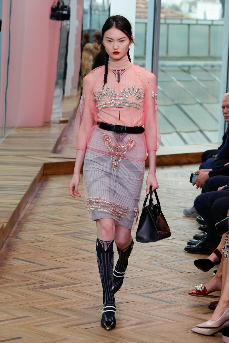 A look from the Prada Resort 2018 collection. Photo: Prada