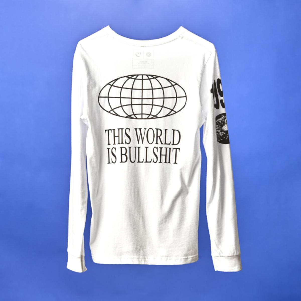 """This World Is Bullshit"" Tee, $50, available at Genius. Photo: Genius"