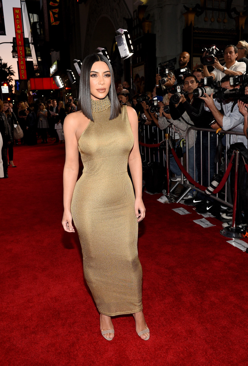 """Kardashian at the premiere of """"The Promise"""" in Los Angeles. Photo: Kevork Djansezian/Getty Images"""
