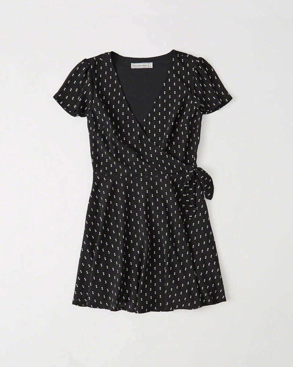 Abercrombie & Fitch printed wrap dress, $39 (from $58), available at Abercrombie & Fitch. Photo: Courtesy of Abercrombie & Fitch