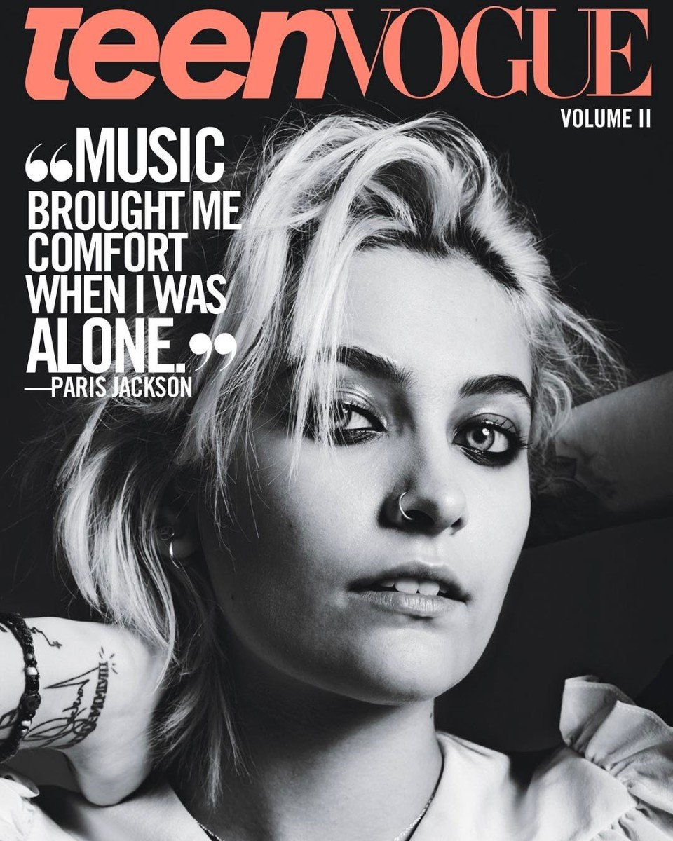 "Paris Jackson for ""Teen Vogue,"" Vol. II: The Music Issue. Photo: Hedi Slimane/Courtesy of ""Teen Vogue"""