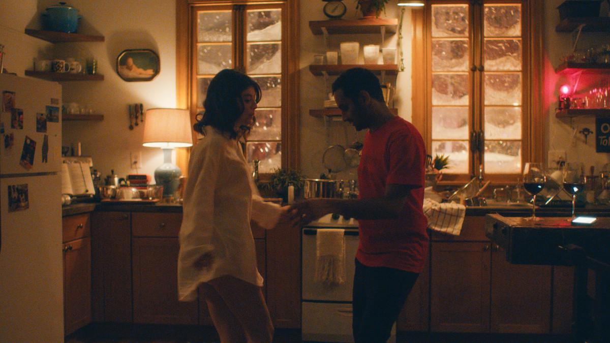 "Alessandra Mastronardi and Aziz Ansari in ""Master of None."" Photo: Netflix"