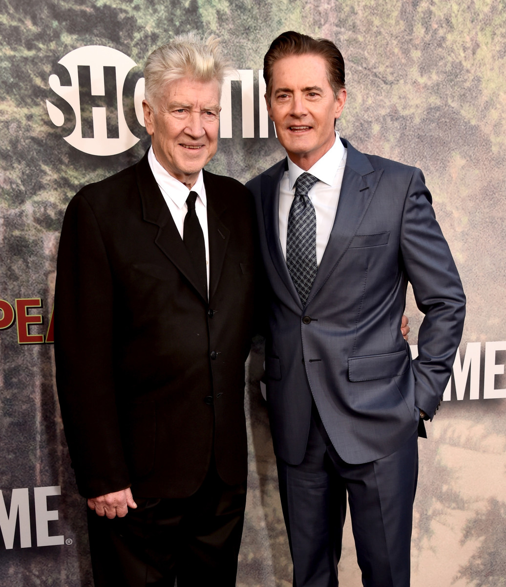 """David Lynch and Kyle MacLachlan at the """"Twin Peaks"""" premiere May 19. Photo: Alberto E. Rodriguez/Getty Images"""