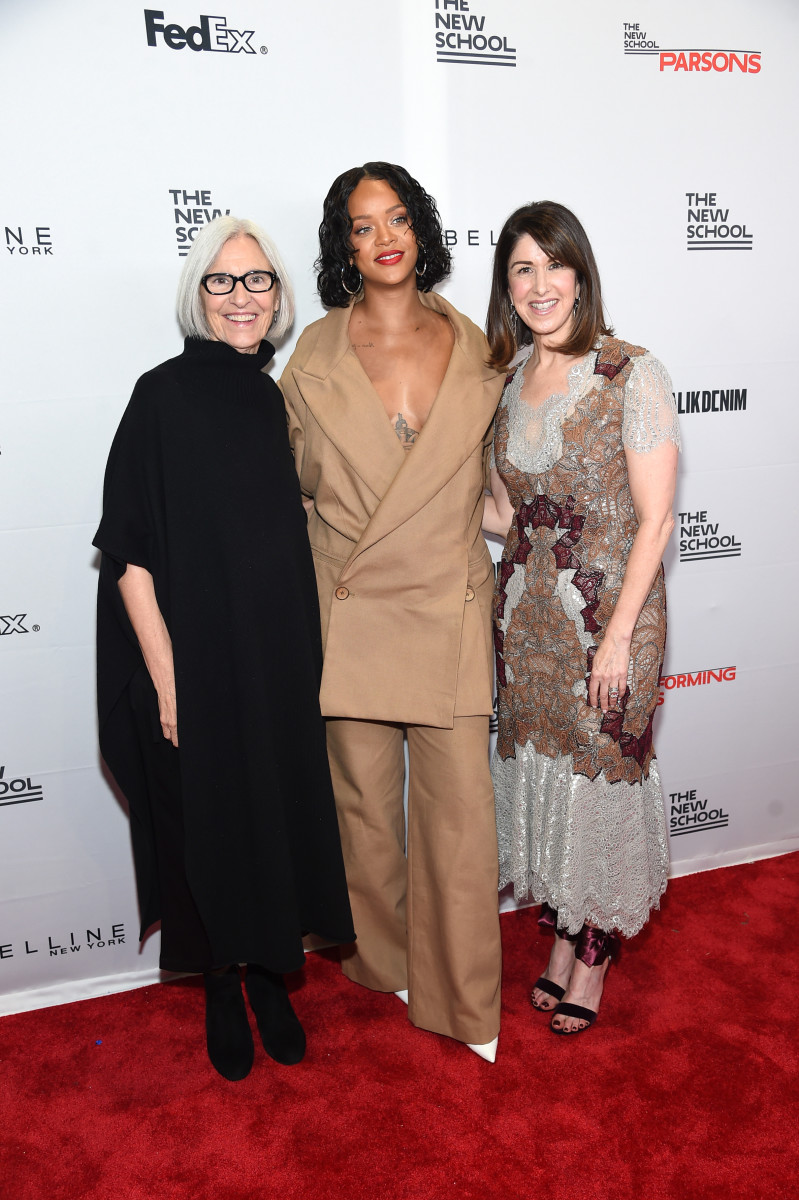 Eileen Fisher, Rihanna and Karen Katz. Photo: Jamie McCarthy