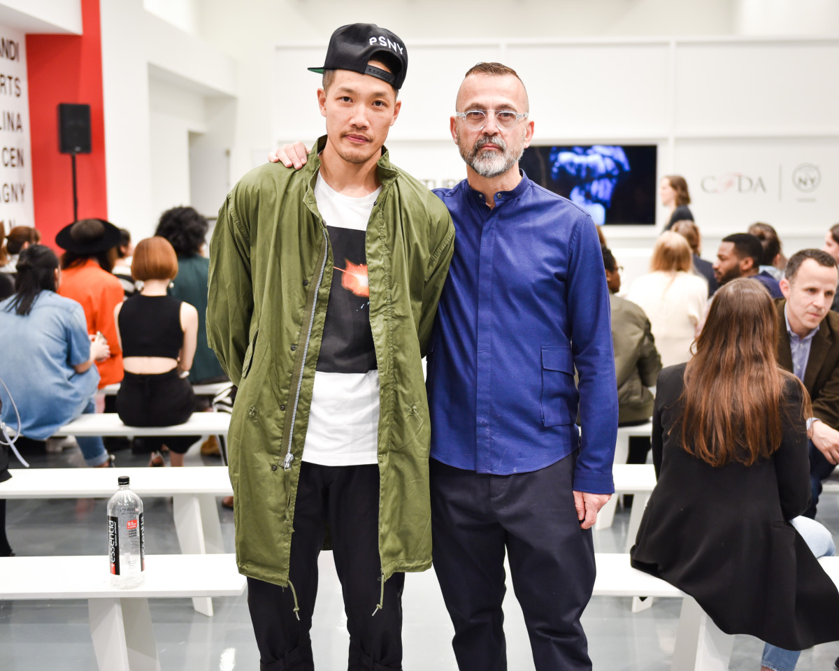 Dao-Yi Chow and Steven Kolb at the showcase. Photo: Griffin Lipson/BFA