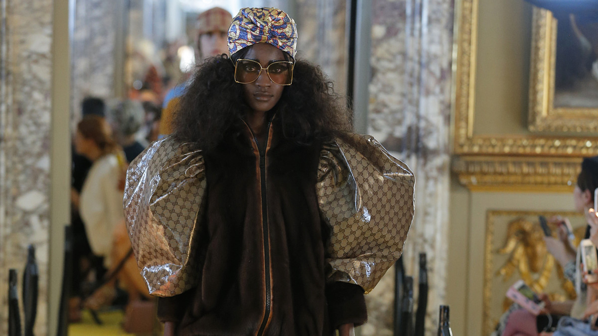 0553d1f5a Jacket From Gucci's Cruise 2018 Collection Faces Criticism for Allegedly  Copying Dapper Dan Design [UPDATED] - Fashionista