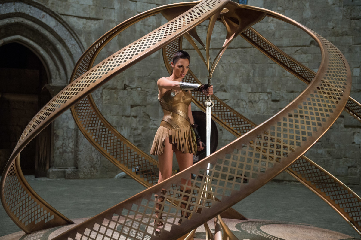 "Diana/Wonder Woman (Gal Gadot) in her ""training armor."" Photo: Alex Bailey/ TM & © DC Comics"