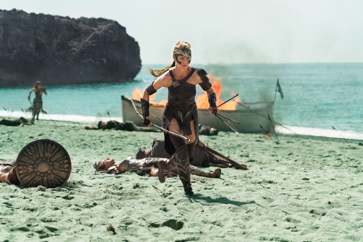 Damn, Claire Underwood. Antiope (Robin Wright) kicks some ass. Photo: Clay Enos/ TM & © DC Comics