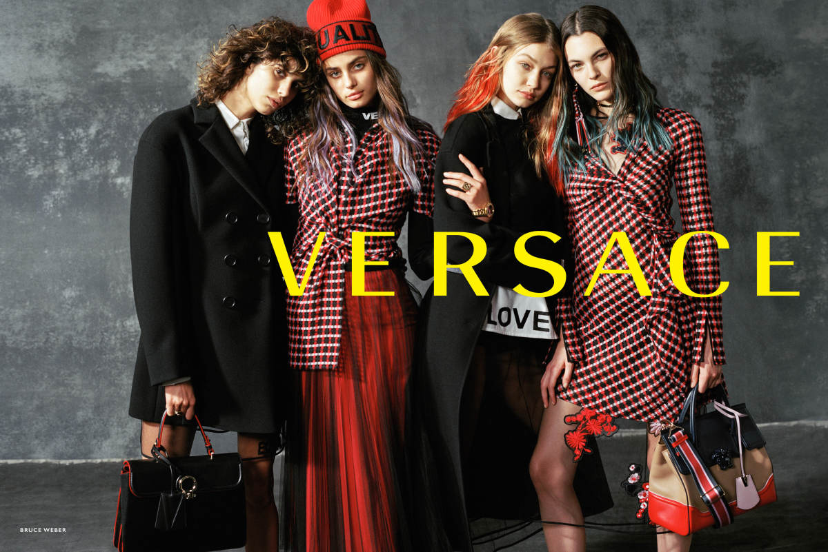 Versace Fall 2017 ad campaign. Photo: Bruce Weber