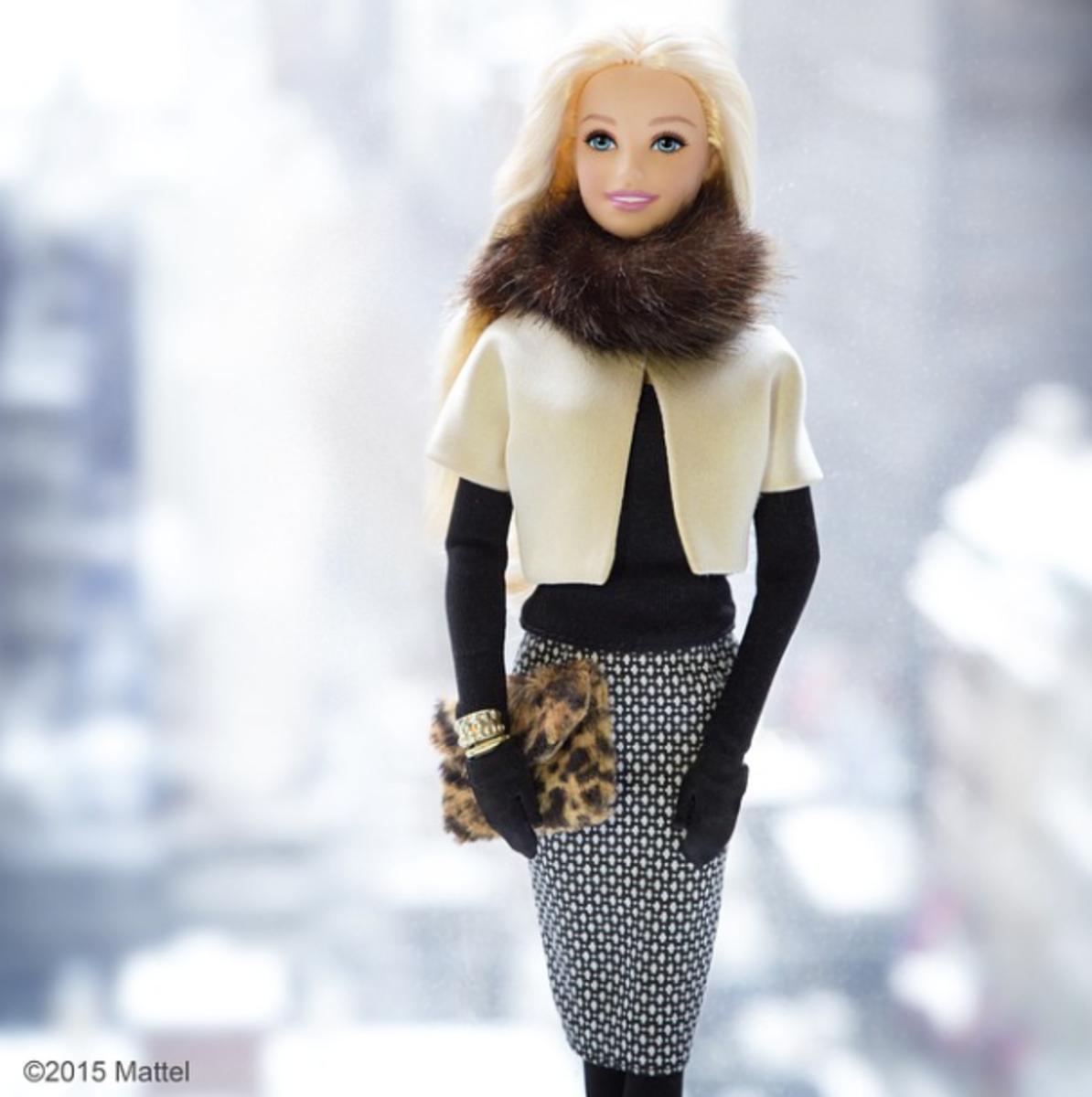 Best's infamous snowy Barbie shoot. Photo: Courtesy