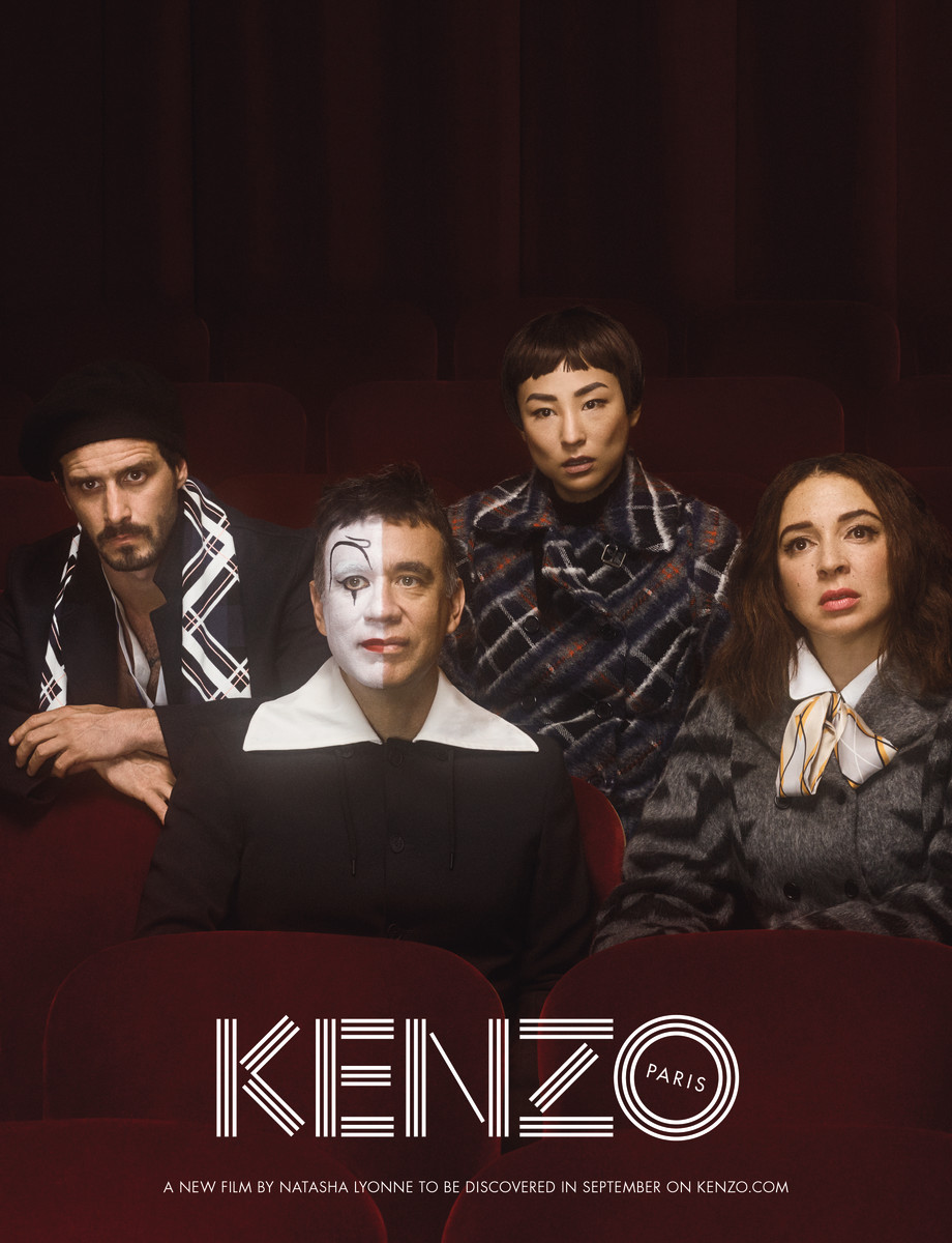 From left to right: James Ransone, Fred Armisen, Greta Lee and Maya Rudolph for the Kenzo Fall 2017 ad campaign. Photo: Casper Sejersen
