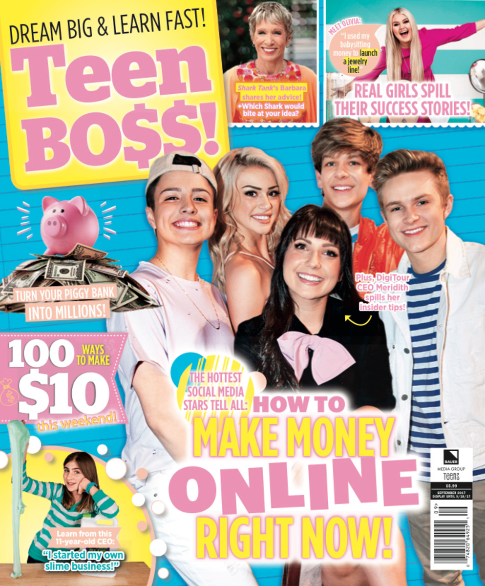 "The first issue of ""Teen Boss."" Photo: Bauer Media"