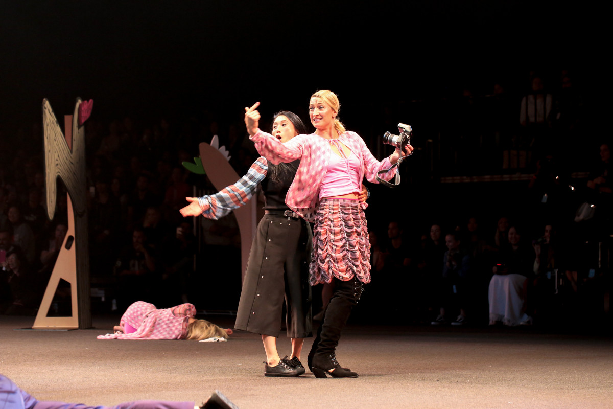 Zoe Bell and Li Jing in Opening Ceremony's Made LA presentation. Photo: courtesy of Opening Ceremony