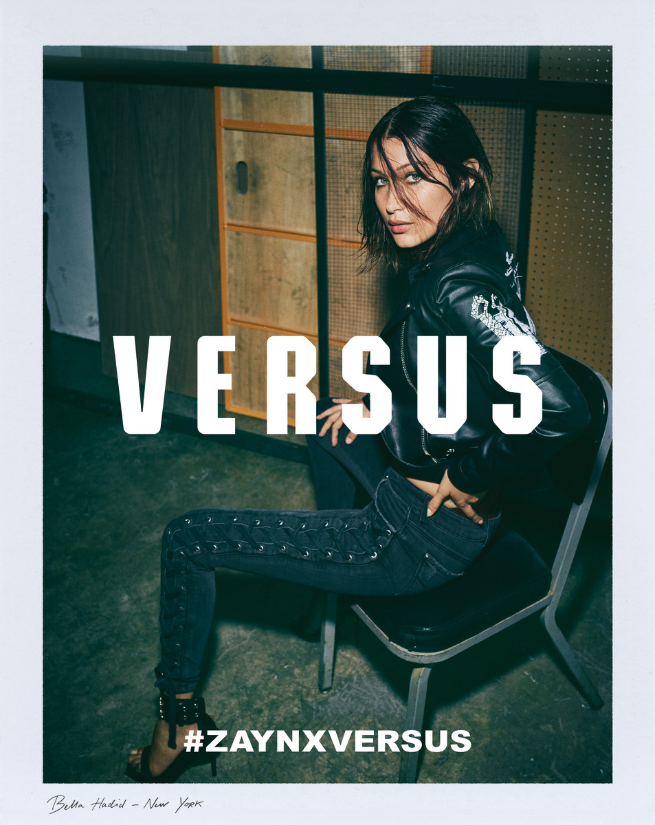 Bella Hadid for Zayn x Versus. Photo: Greg Harris