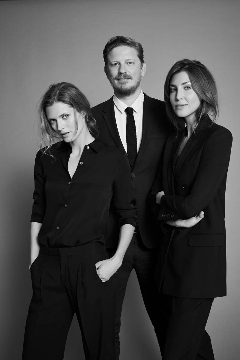 """The """"Vogue"""" Poland team. From L-R: Editor-at-Large Malgosia Bela, Editor-in-Chief Filip Niedenthal and publishing partner Kasia Kulczyk. Photo: Condé Nast International"""