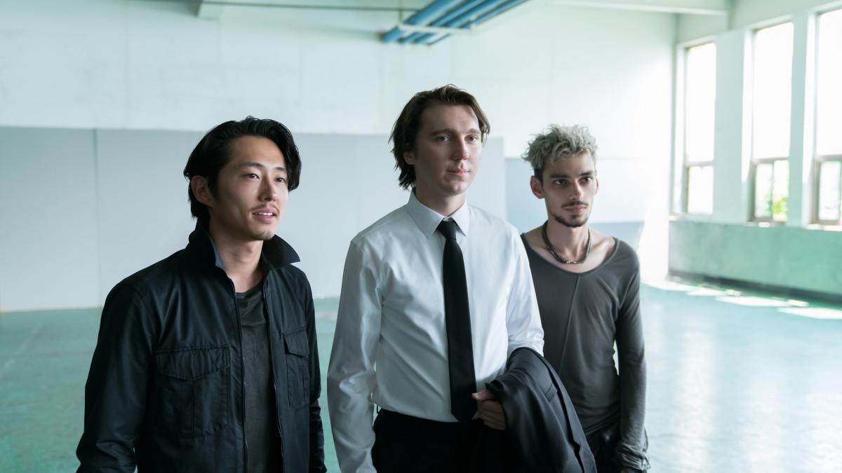 K (Steven Yeun), Jay (Paul Dano) and Silver (Devon Bostick). Photo: Jae Hyuk Lee/Netflix