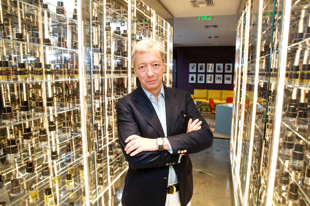 Malle inside his new Los Angeles store. Photo: Marc Patrick for BFA.com