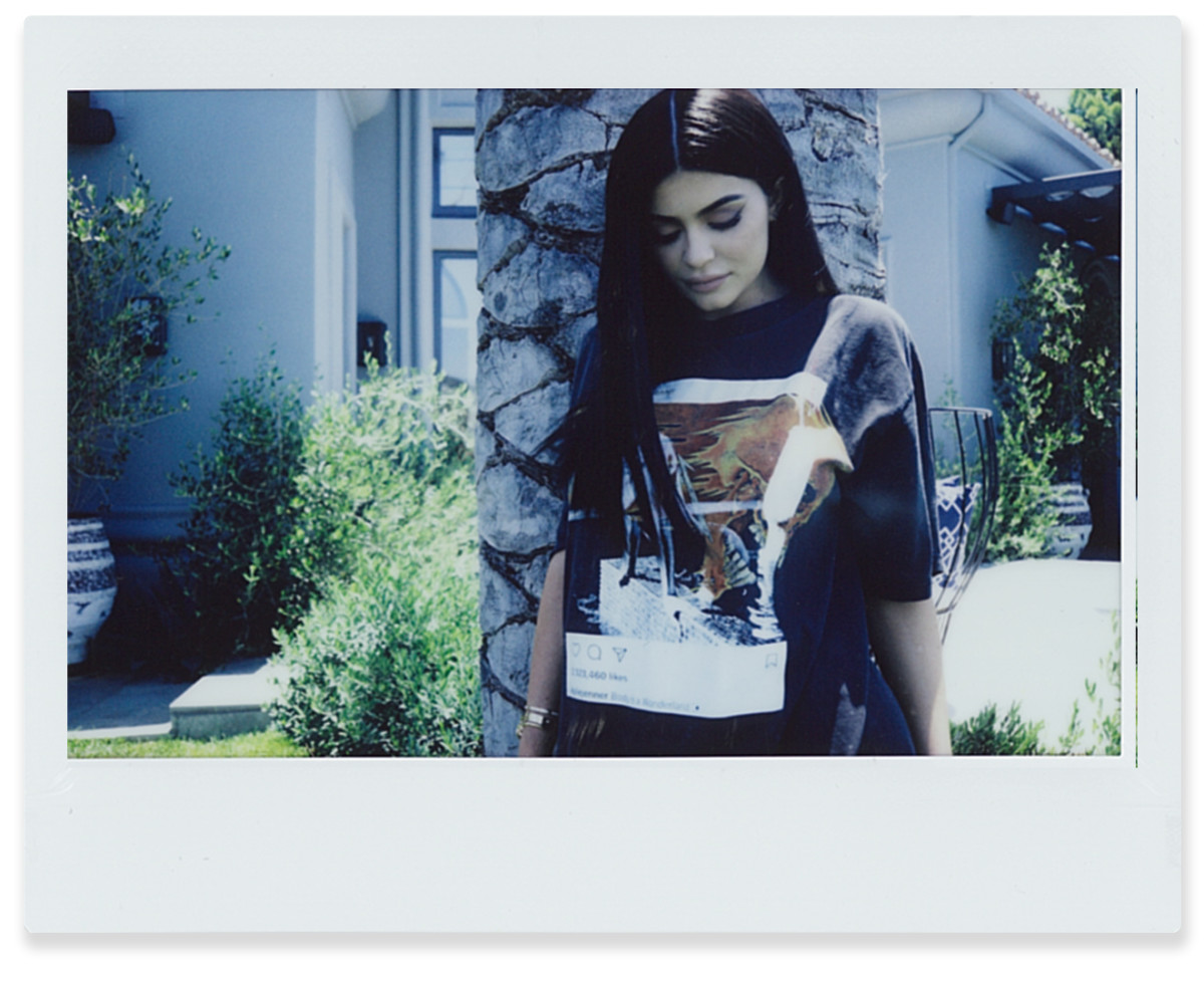 Kylie Jenner for Kendall + Kylie's vintage tee collection. Photo: Kendall + Kylie
