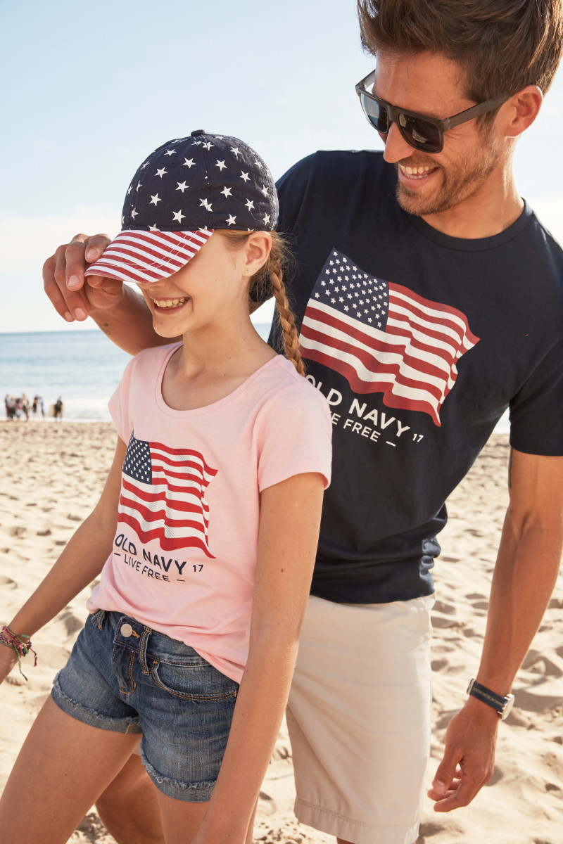 Old Navy's flag tee campaign. Photo: Courtesy of Old Navy