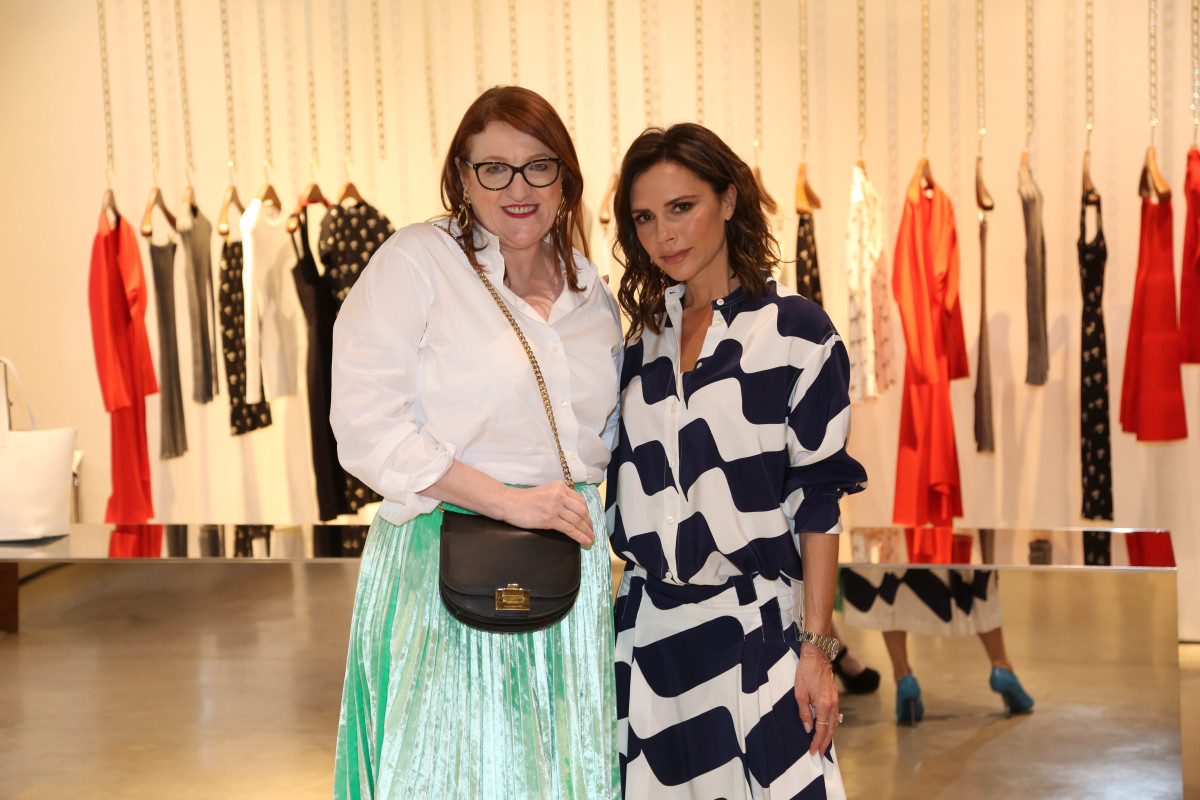 Glenda Bailey and Victoria Beckham at the American Express Platinum x Harper's Bazaar Q&A in London. Photo: courtesy of American Express Platinum