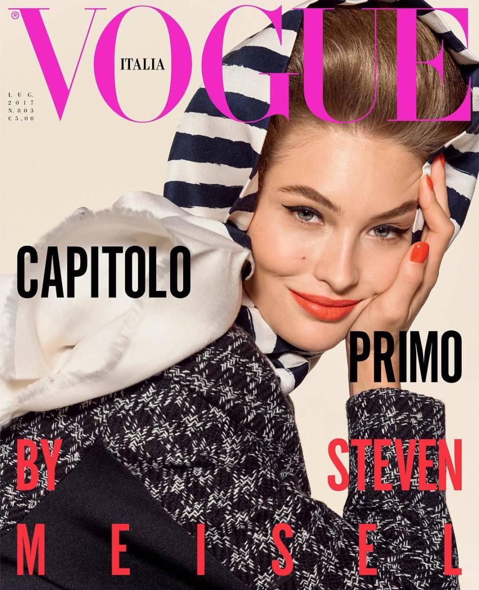 """Grace Elizabeth on """"Vogue"""" Italia's August 2017 issue. Photo: @vogueitalia/Instagram"""