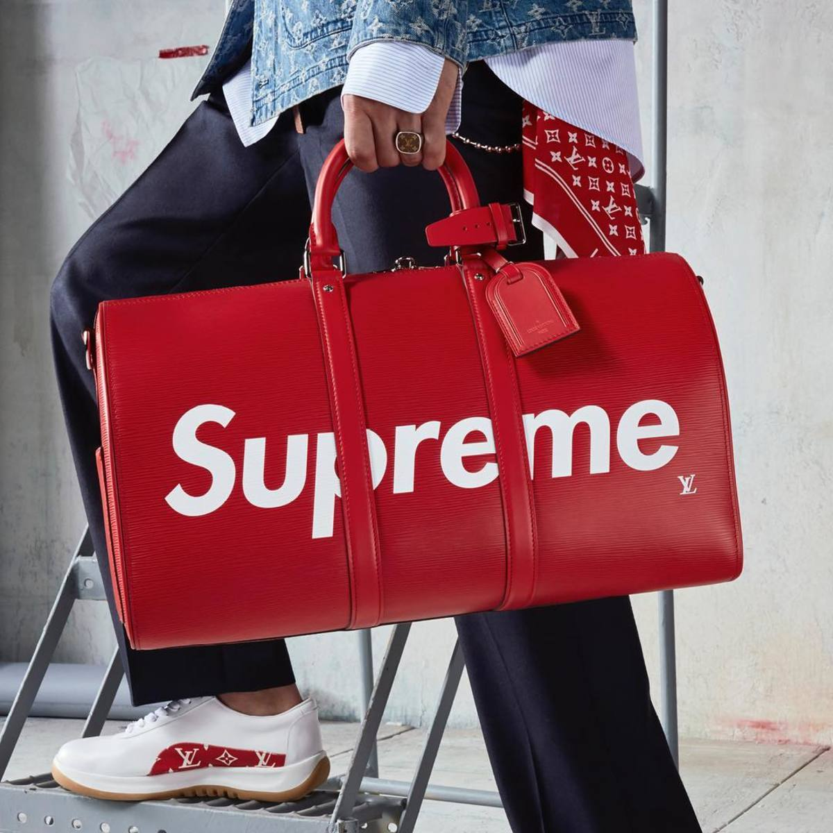 A piece from Supreme's collaboration with Louis Vuitton, the latter of which is operated by LVMH. Photo: @LVMH/Instagram