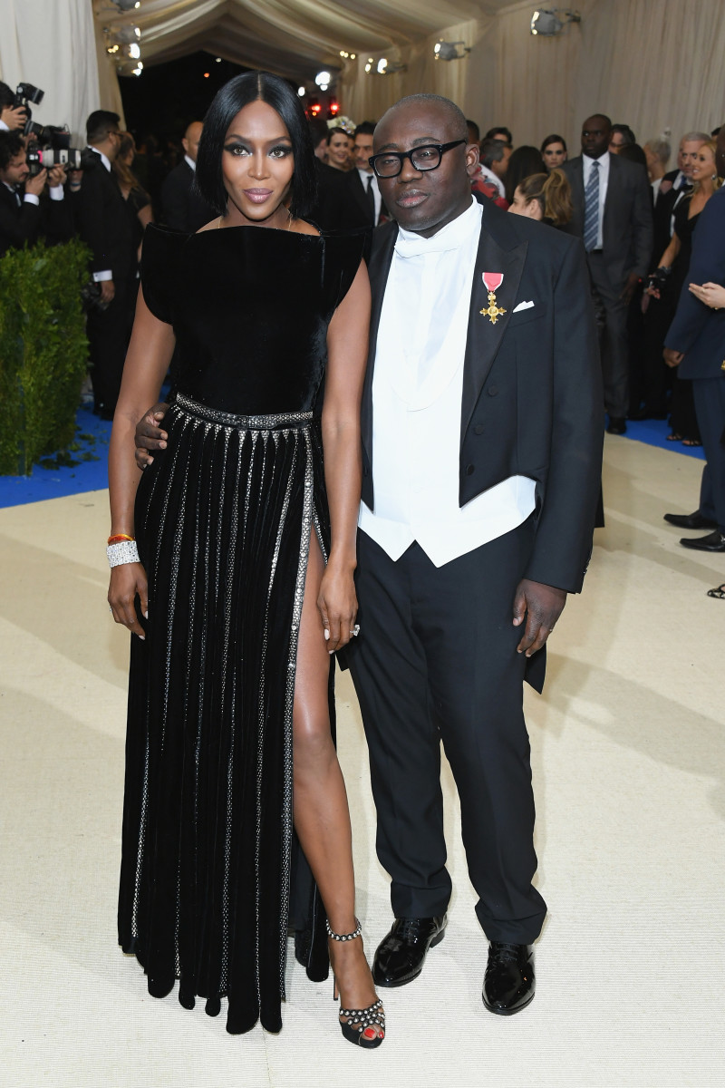 Naomi Campbell and British 'Vogue' editor-in-chief Edward Enninful. Photo: Dia Dipasupil/Getty Images
