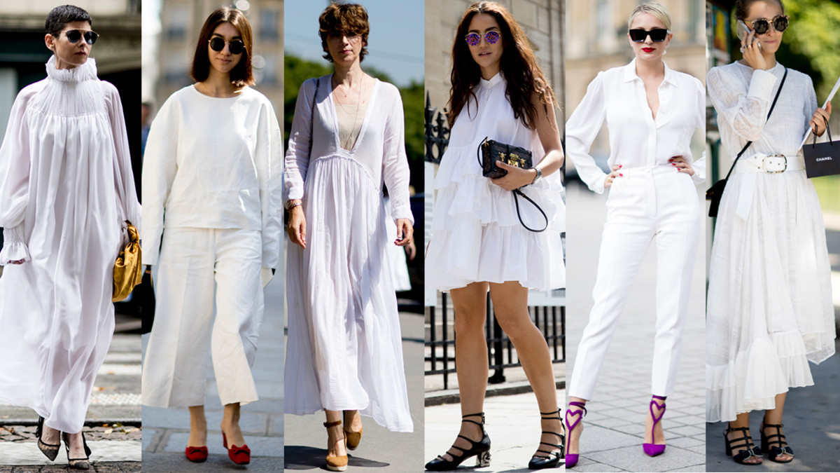All White Outfits Were A Street Style Favorite At Paris