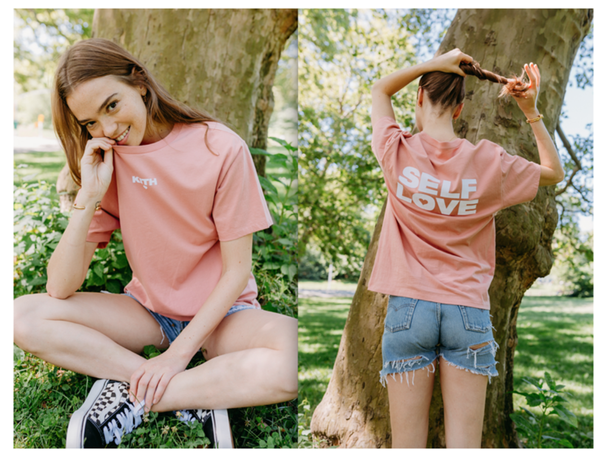 """The """"Self Love"""" tee from Emily Oberg's Summer 2017 collection for Kith. Photo: Kith"""