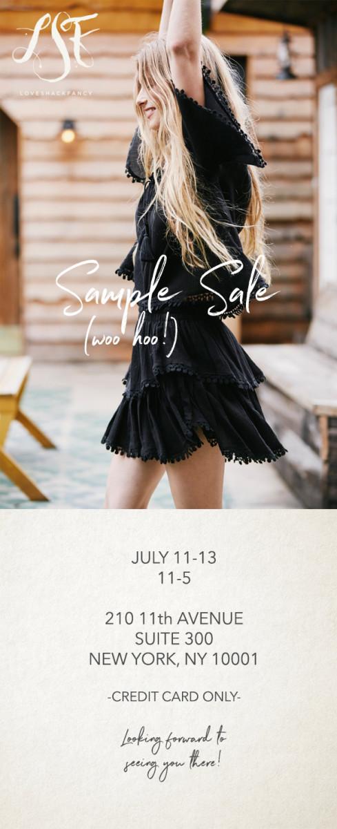 Sample Sale 2