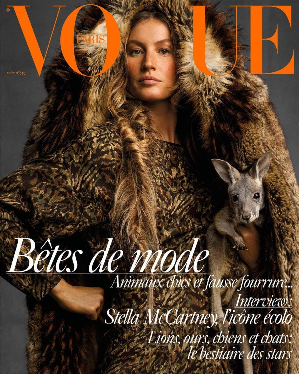 "Gisele Bündchen for ""Vogue"" Paris' August 2017 issue. Photo: Inez and Vinoodh/Courtesy of ""Vogue"" Paris"