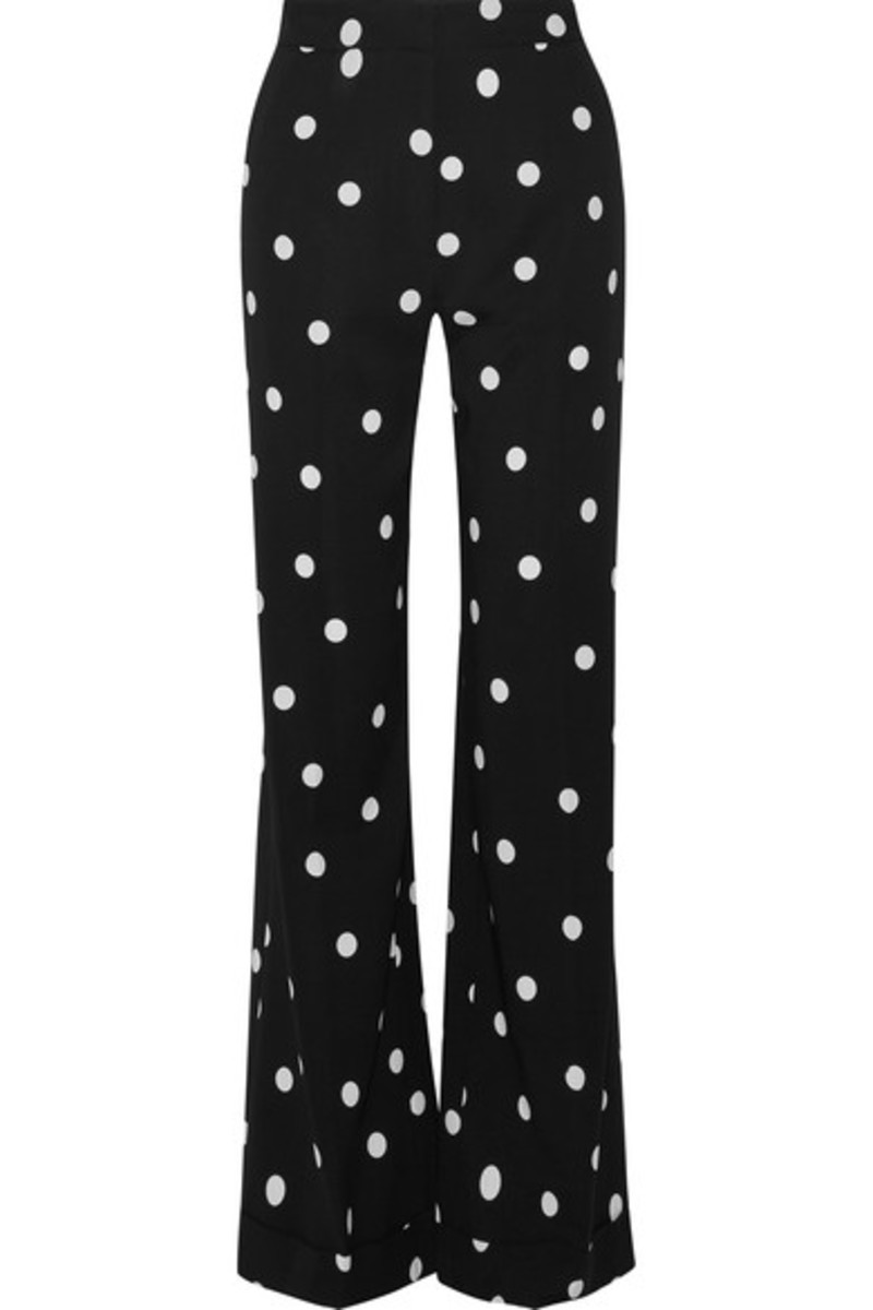 Monse polkta-dot silk-blend crepe wide-leg pants, $1390, available at Net-a-Porter.