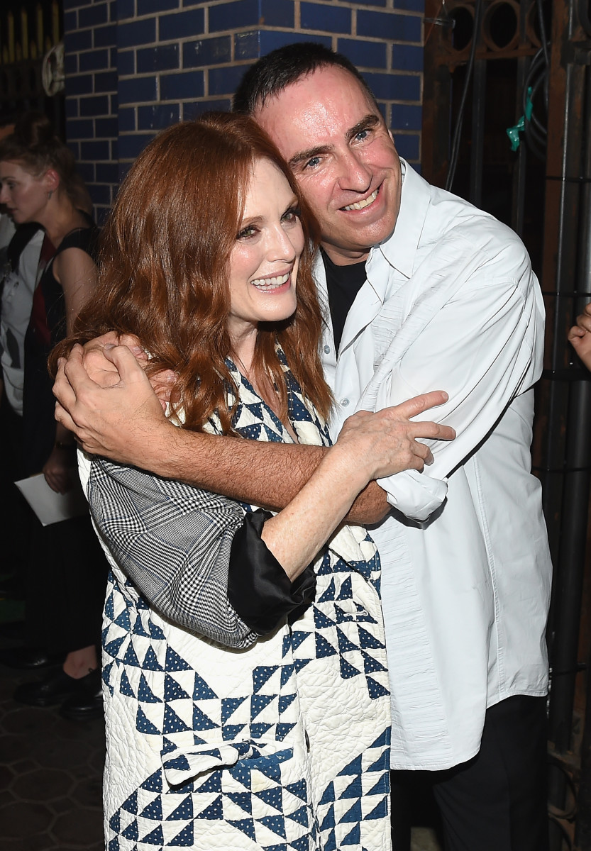Julianne Moore and Raf Simons. Photo: Nicholas Hunt/Getty Images