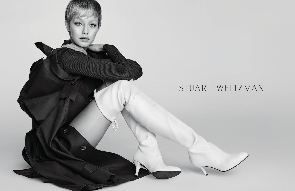 Gigi Hadid for Stuart Weitzman. Photo: Mario Testino/Stuart Weitzman