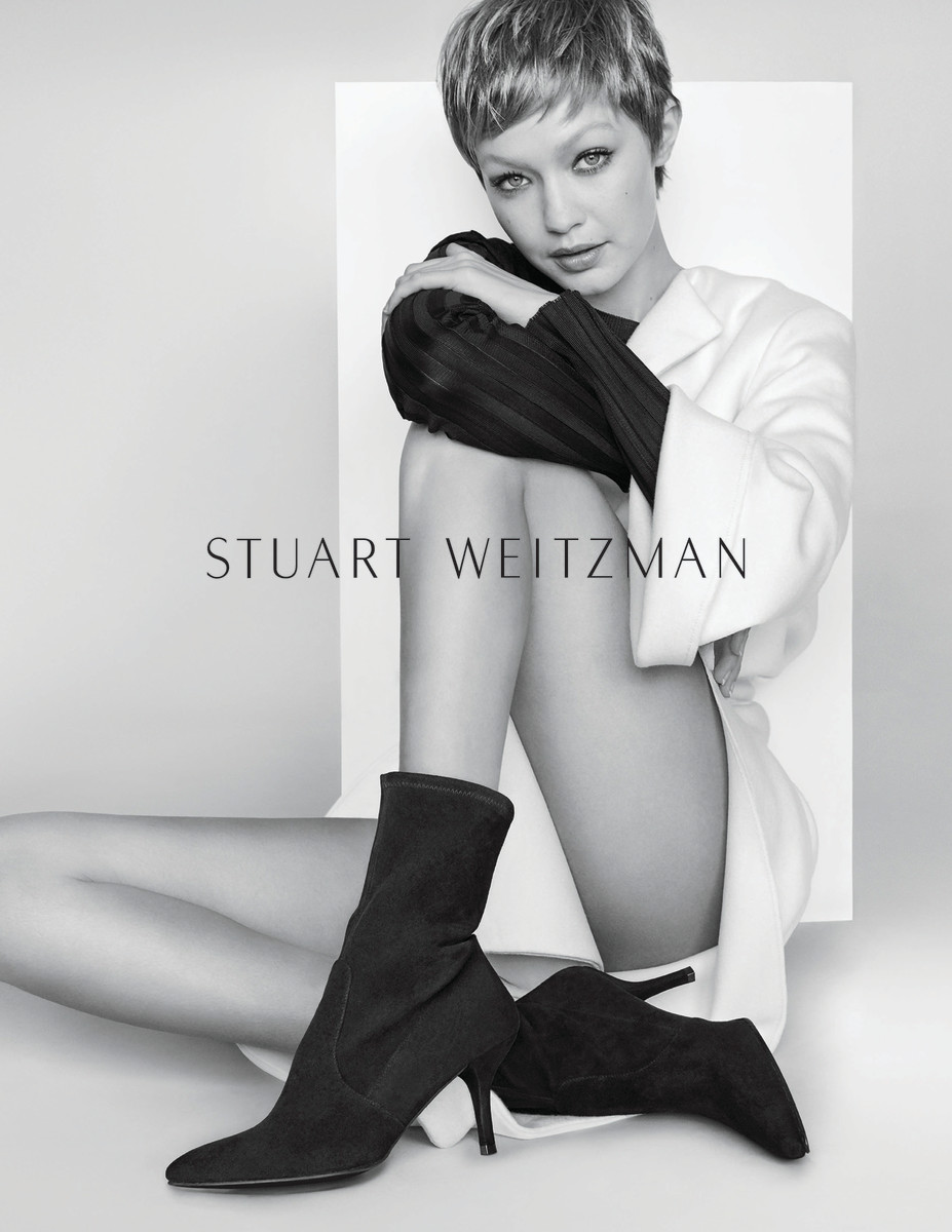 Gigi Hadid for Stuart Weitzman. Photo:Mario Testino/Stuart Weitzman