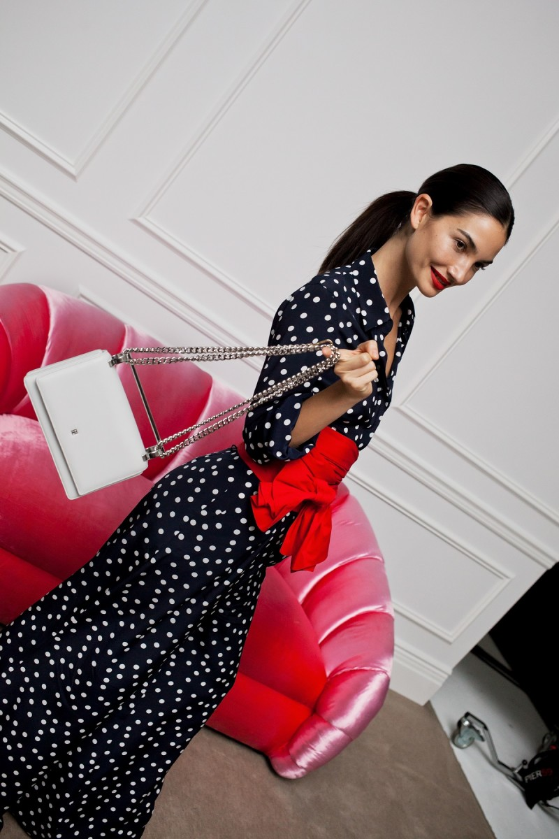 Lily Aldridge with CH Carolina Herrera's Insignia Bag. Photo: M2Malletier