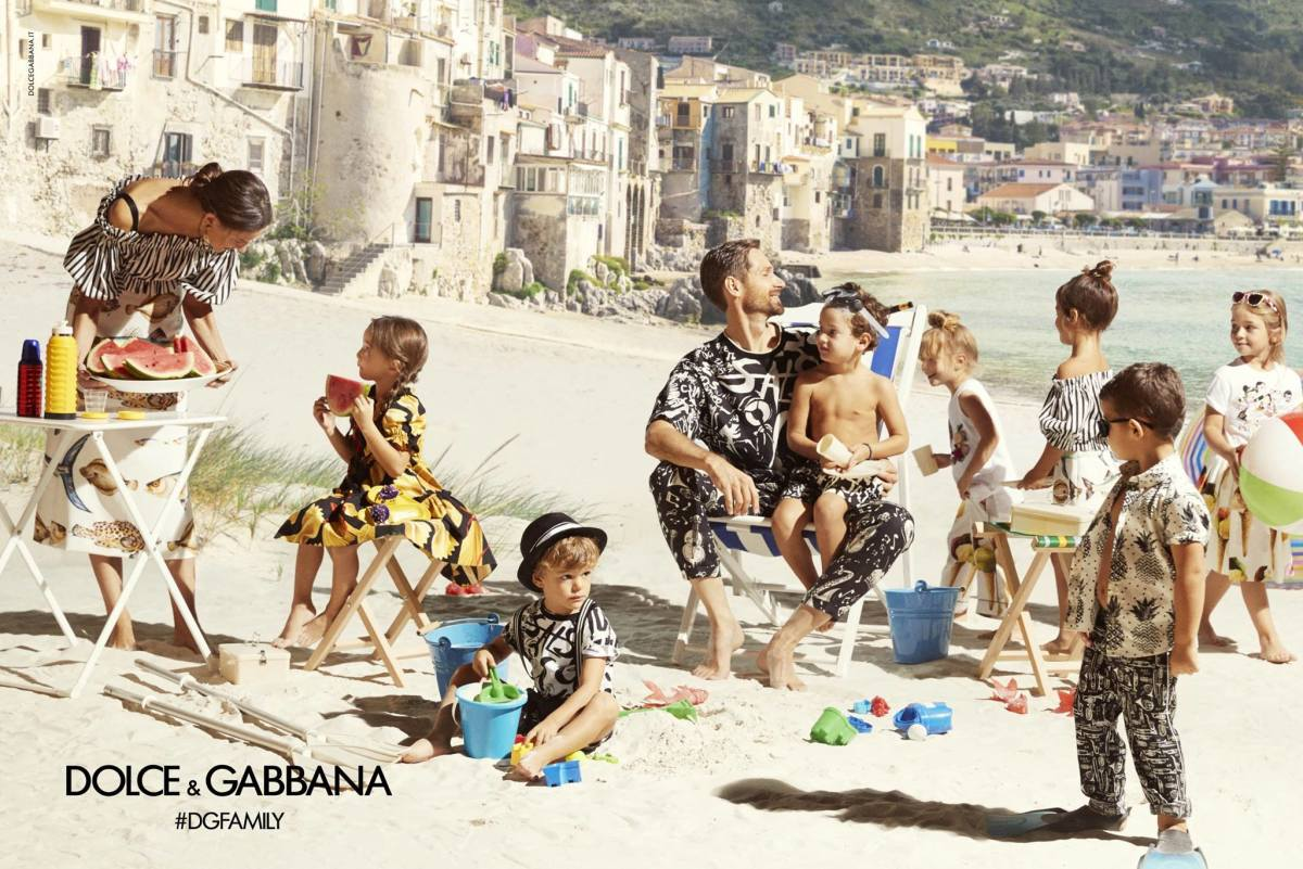 Dolce and Gabbana's kids' Spring 2017 campaign.
