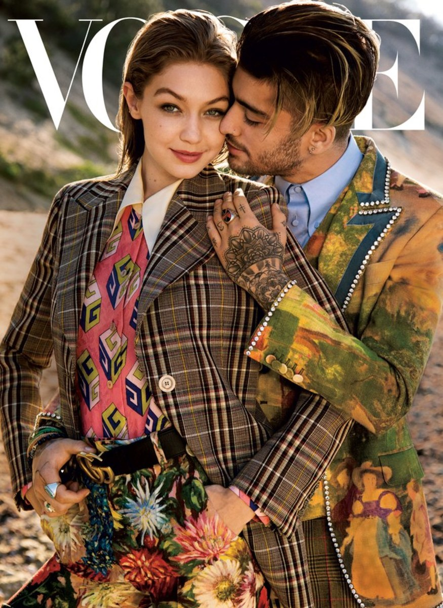 Gigi Hadid and Zayn Malik on Vogue's August issue. Photo: Inez and Vinoodh/Vogue