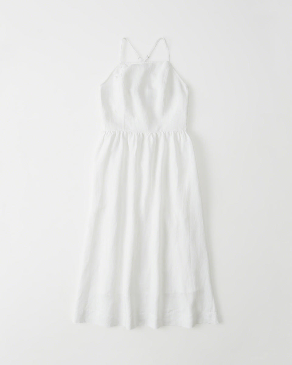 Abercrombie & Fitch square-neck midi dress, $68, available at Abercrombie & Fitch.