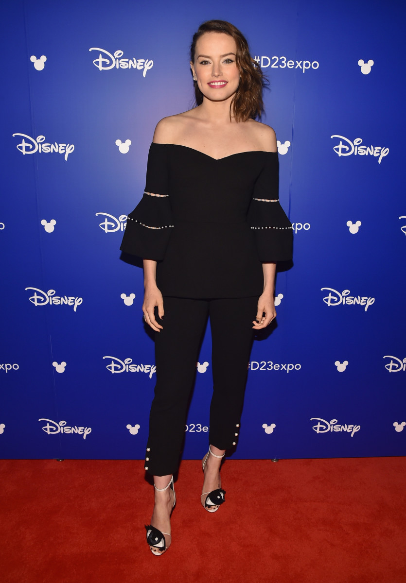 Daisy Ridley at Disney's D23 Expo in Lela Rose. Photo: Alberto E. Rodriguez/Getty Images
