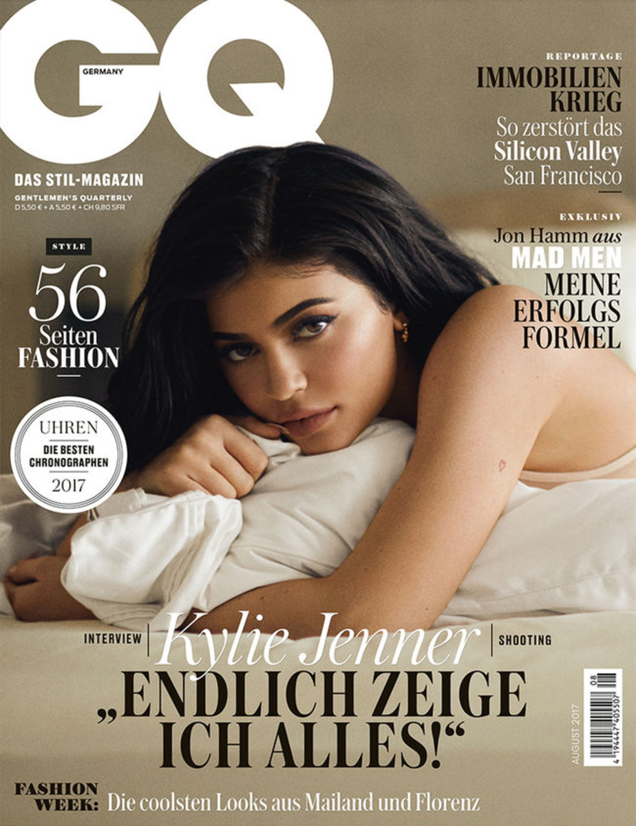 Kylie Jenner on August 2017 cover of 'GQ Germany'. Photo: Mike Rosenthal