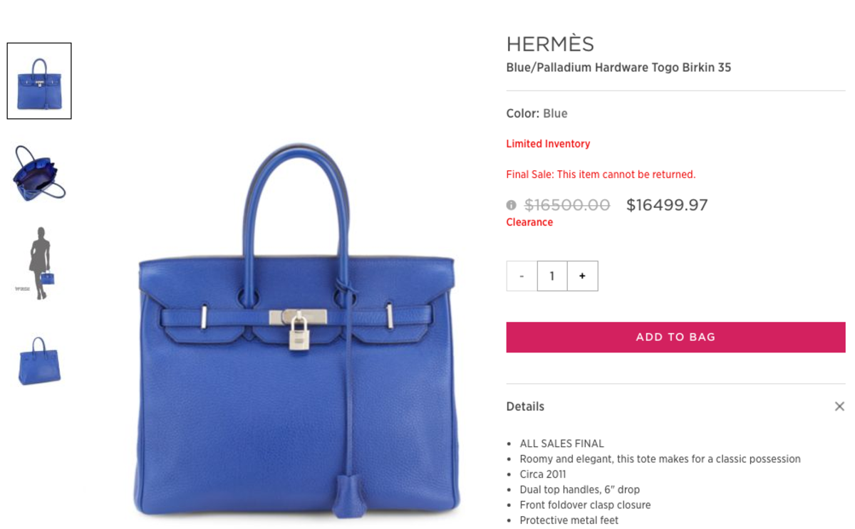 56a6547339 Saks Off Fifth Is Magically Selling Discounted Hermès Birkin and ...