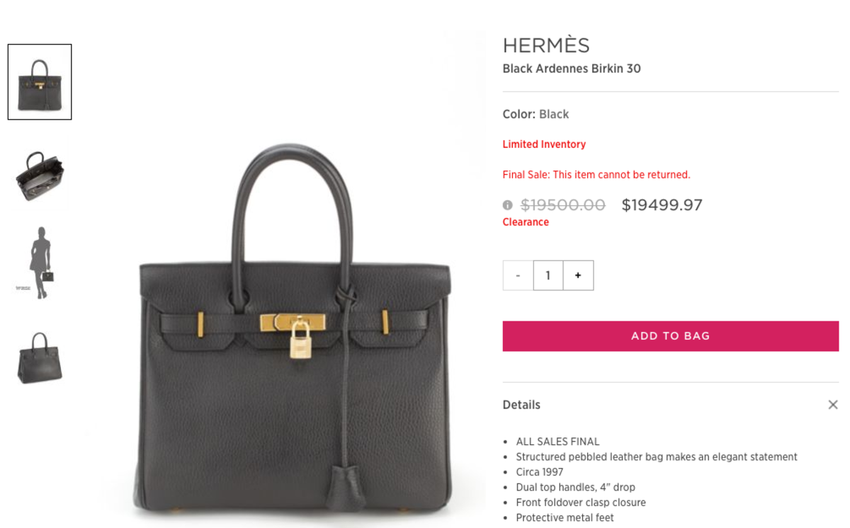 Saks Off Fifth Is Magically Selling Discounted Hermès Birkin and ... 9c3101e3d484d