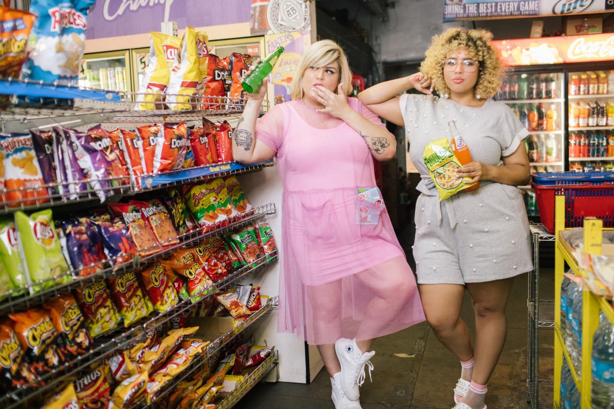 Nicolette Mason and Gabi Gregg model Premme. Photo: Courtesy
