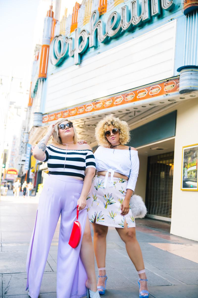 Nicolette Mason and Gabi Gregg in Premme designs. Photo: Courtesy