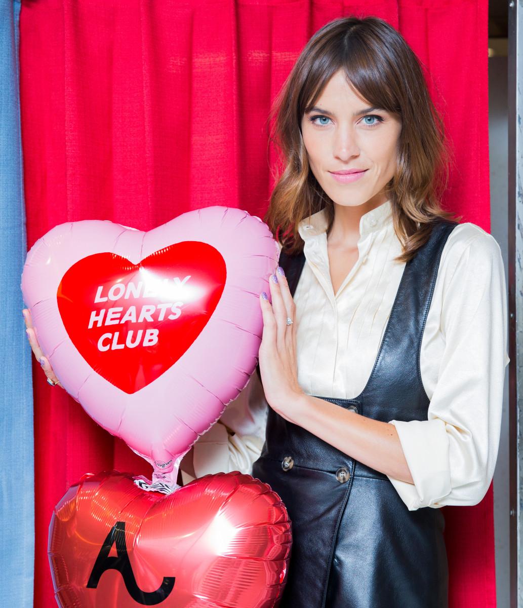"Alexa Chung at her ""The Lonely Hearts Club"" party at Bergdorf Goodman. Photo: BFA"