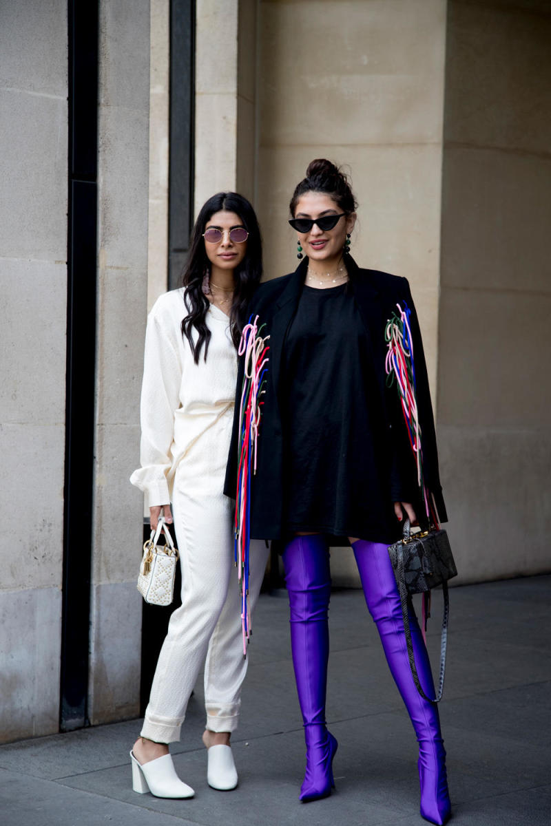Street style from Paris Couture Week. Photo: Imaxtree