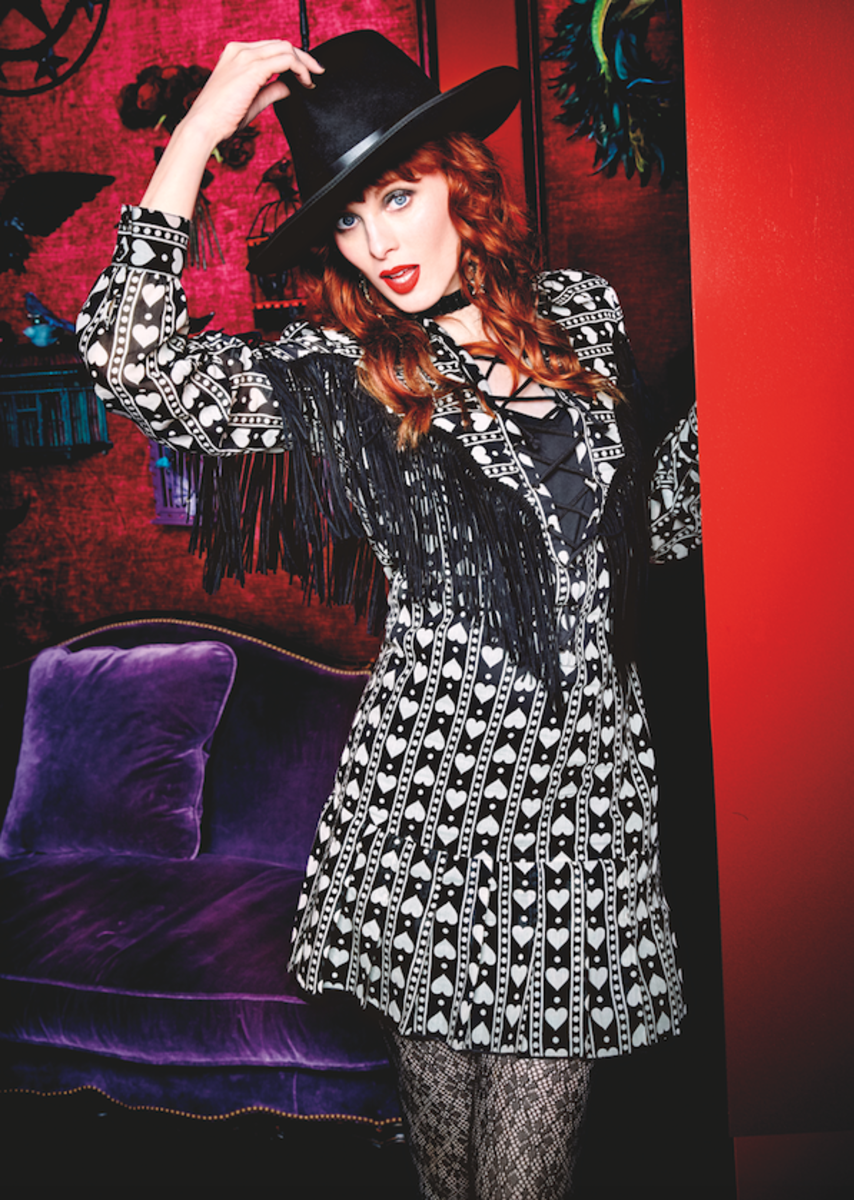 Karen Elson in Anna Sui x INC's campaign. Photo: Courtesy