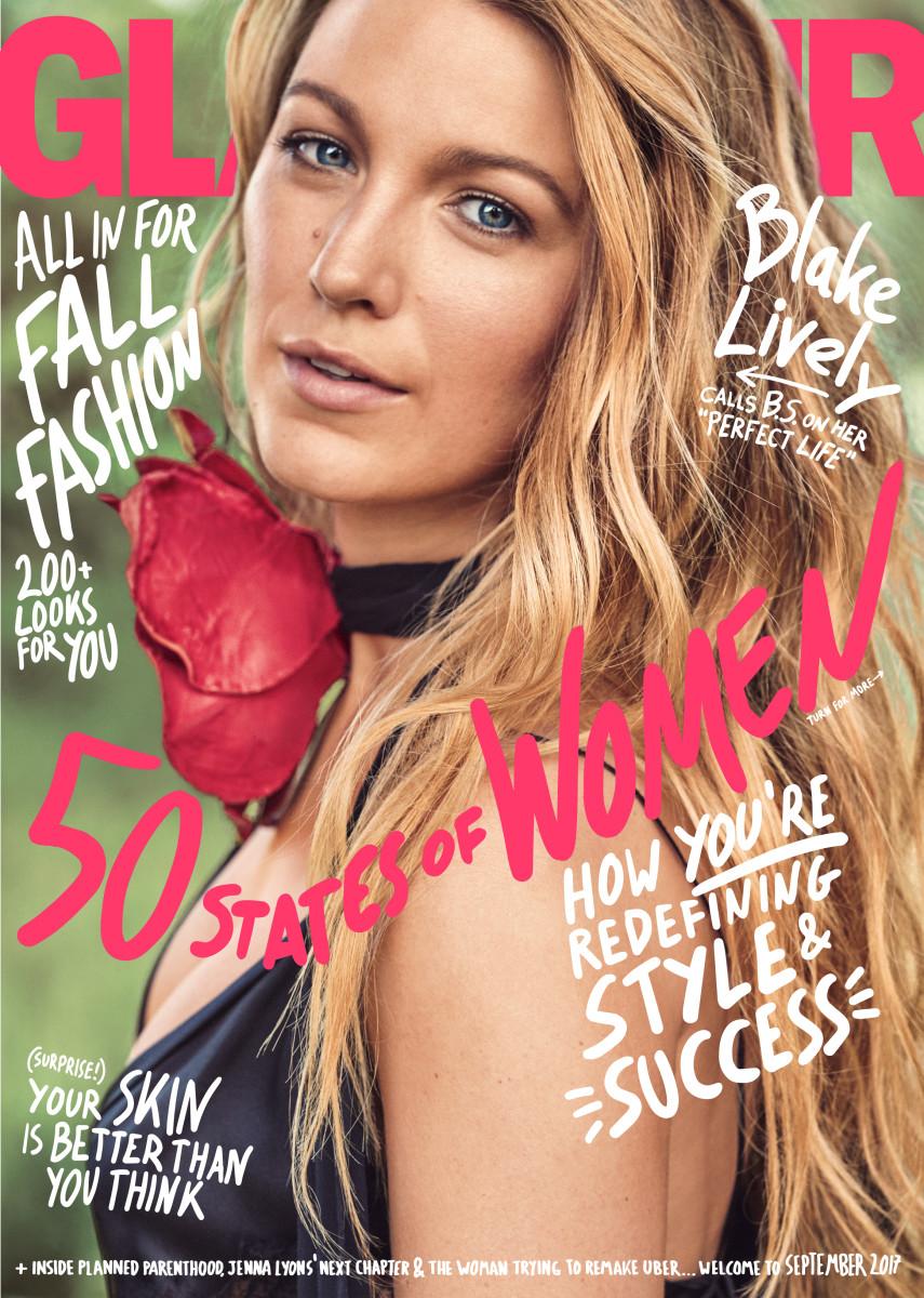 "Blake Lively on ""Glamour""'s Sept. 2017 issue. Photo: Nathaniel Goldberg/""Glamour"""