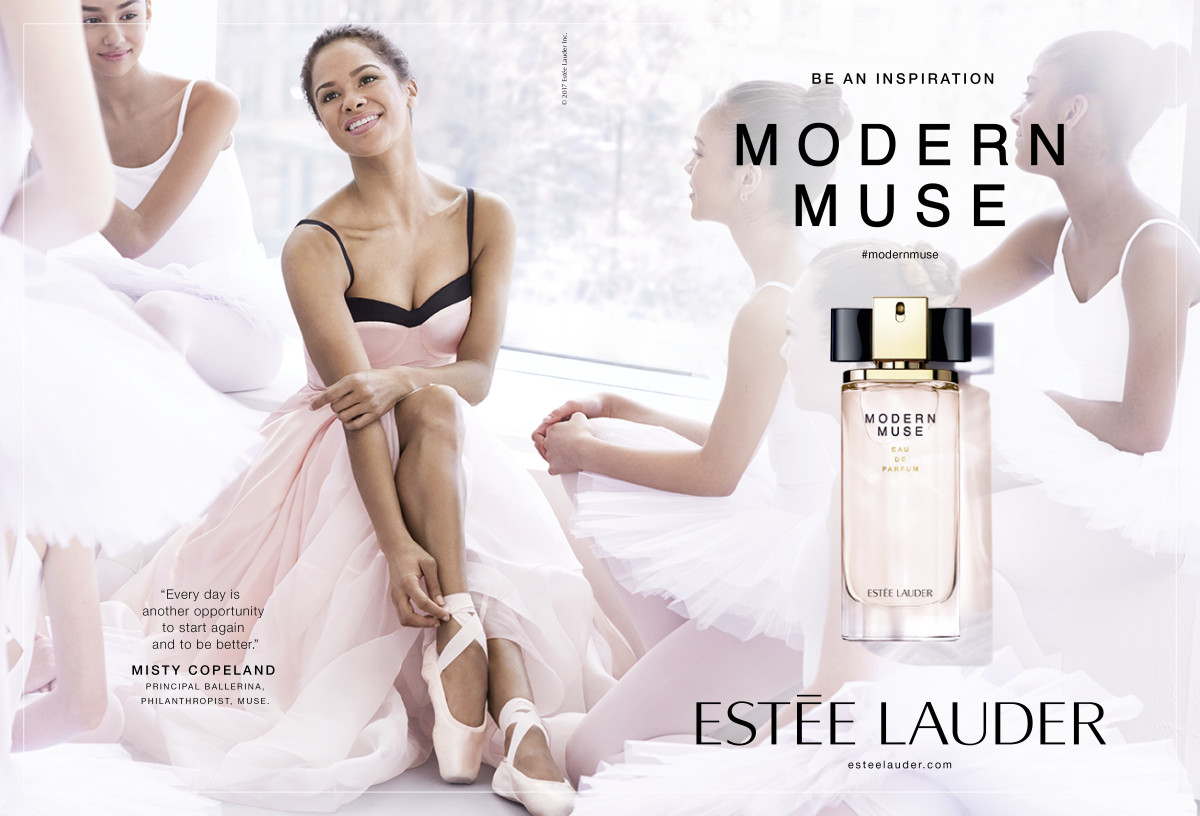 Misty Copeland in the Modern Muse fragrance campaign. Photo: Courtesy